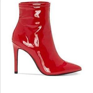 STYLE ALERT! Jessica Simpson Pelina bootie in red.